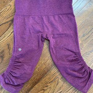 Lululemon athletica maroon crop leggings